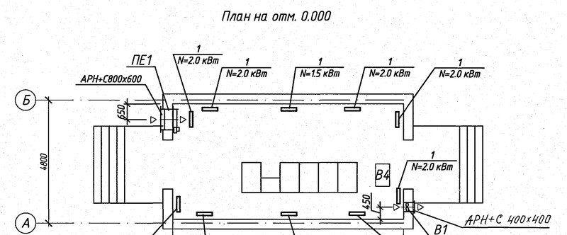 Проектирование отопления ЗРУ 10 кВ - 1