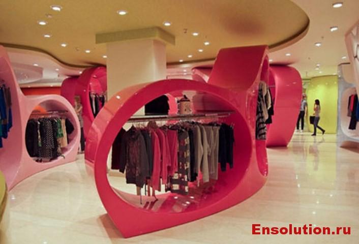 Дизайн интерьера торгового зала 2