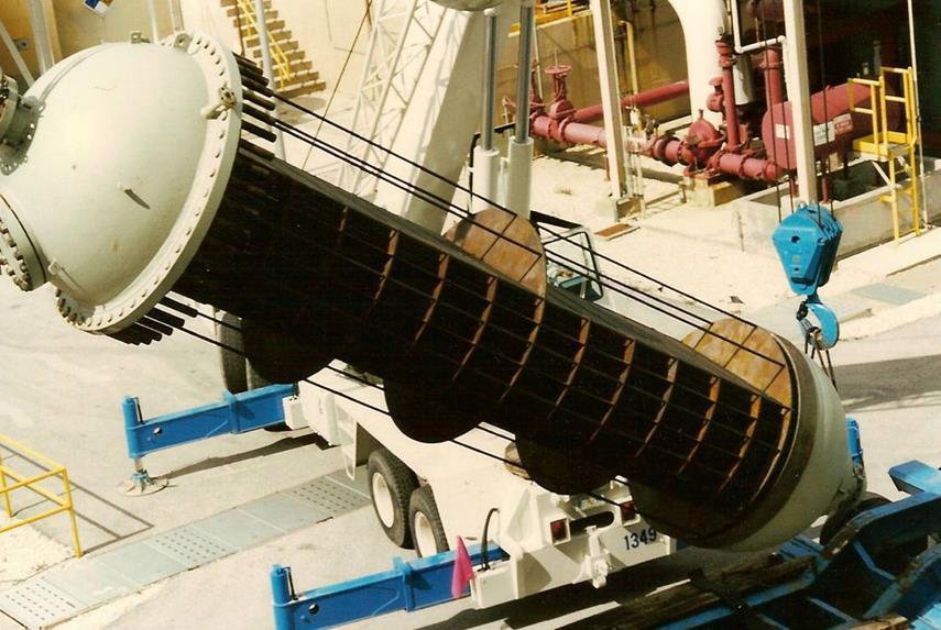 Кожухотрубный вертикальный конденсатор