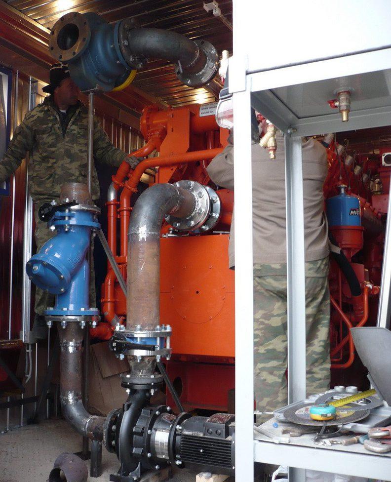 Монтаж газопоршневых генераторных установок в Оренбургской области