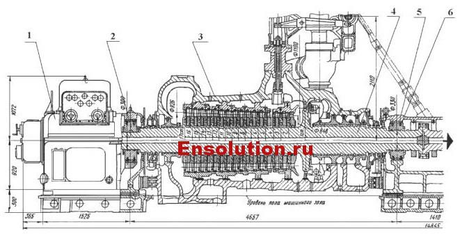 Турбина паровая ПТ-80_100-130_13 ЛМЗ лист 1