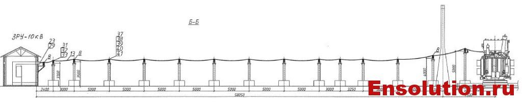 Автотрансформатор АТДЦТН 63000-220-110_гибкие связи 10кВ