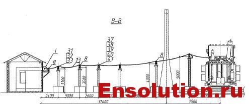 Автотрансформатор АТДЦТН 63000-220-110_гибкие связи 10кВ 2