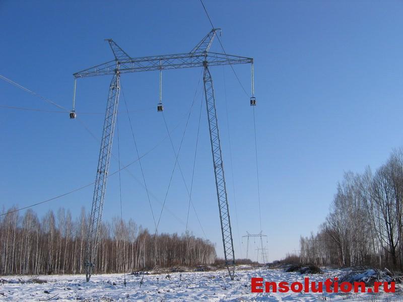 Натяжка троса ВЛ 330-500 кВ - 2