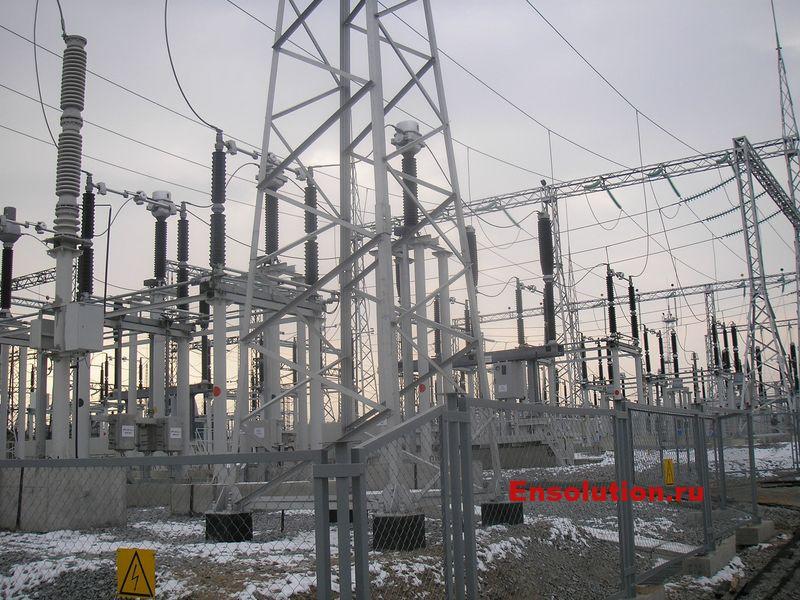 электротехническое оборудование ОРУ 220 кВ ПС Дальневосточная