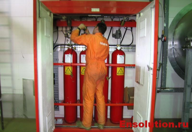 Пожарная защита ГТУ диоксидом углерода