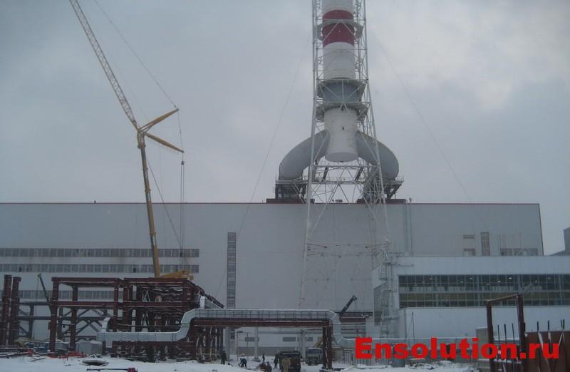 Тепловая электростанция с газомазутными горелками фото