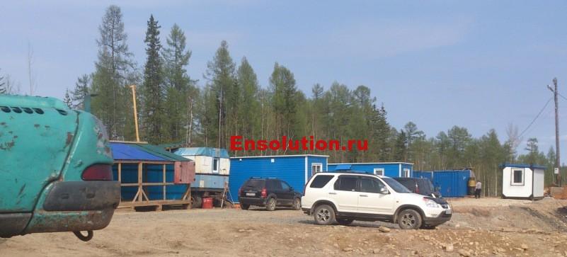 Временные здания и сооружения ПС 220 кВ Гулево
