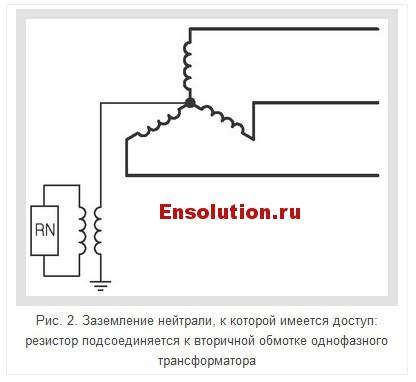 резистор подсоединяется к вторичной обмотке однофазного трансформатора