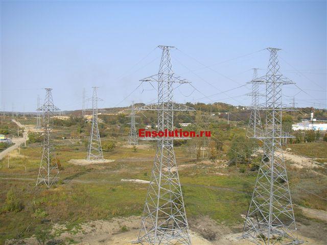 высоковольтная линия электропередач 220 кВ