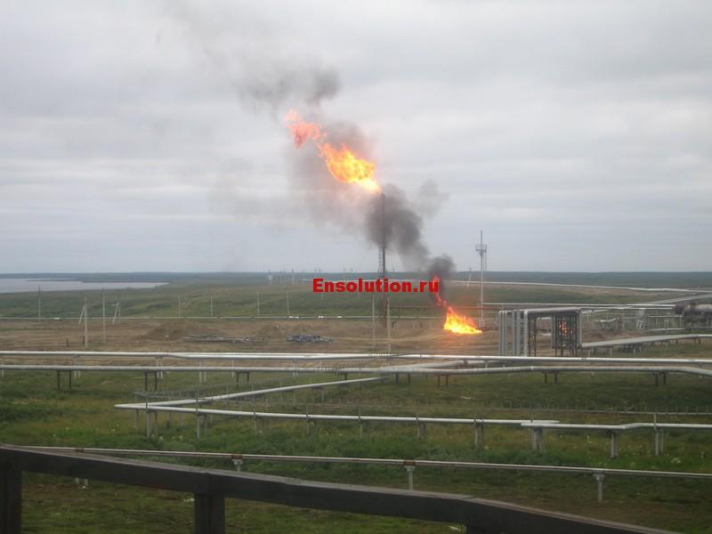 Природный газ - факел