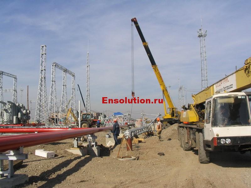 вотография монтажа водоснабжения на подстанции