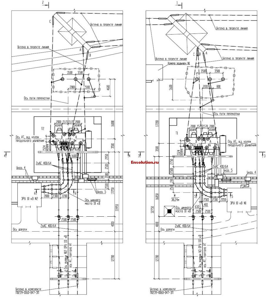 Автотрансформатор - Сибирь - планы узлов 1
