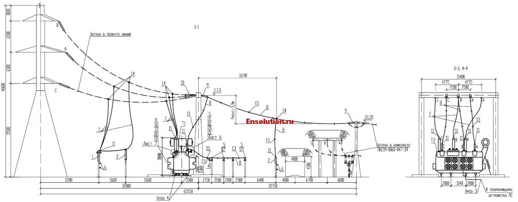 Автотрансформатор - Сибирь - планы узлов 2