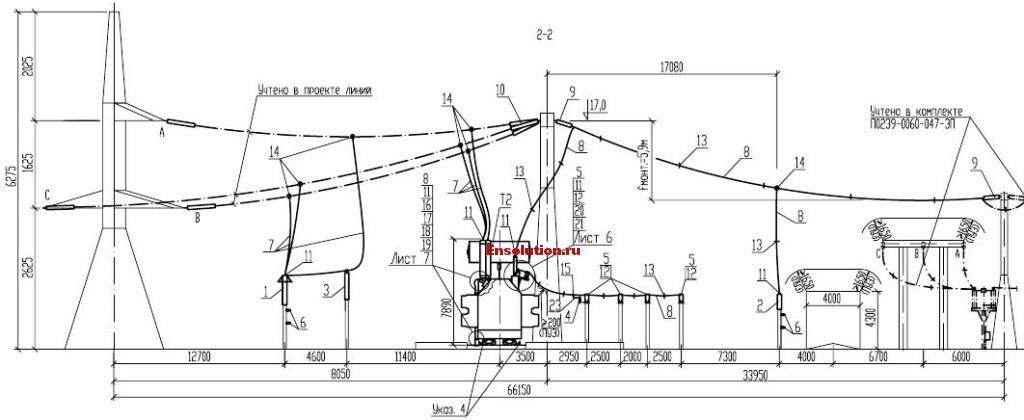Автотрансформатор - Сибирь - планы узлов 3