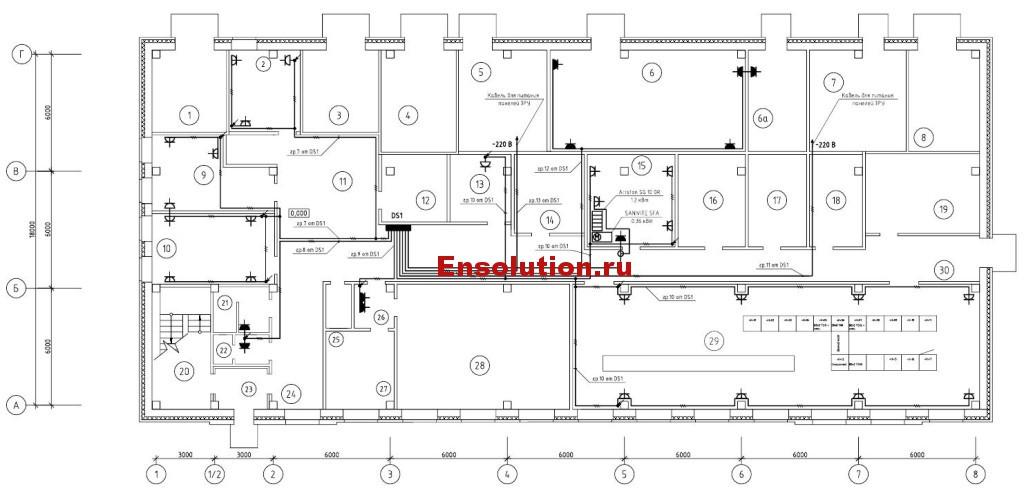 План розеточной сети 220В_1