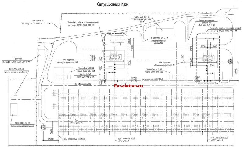 Установка трансформаторов - ситуационный план