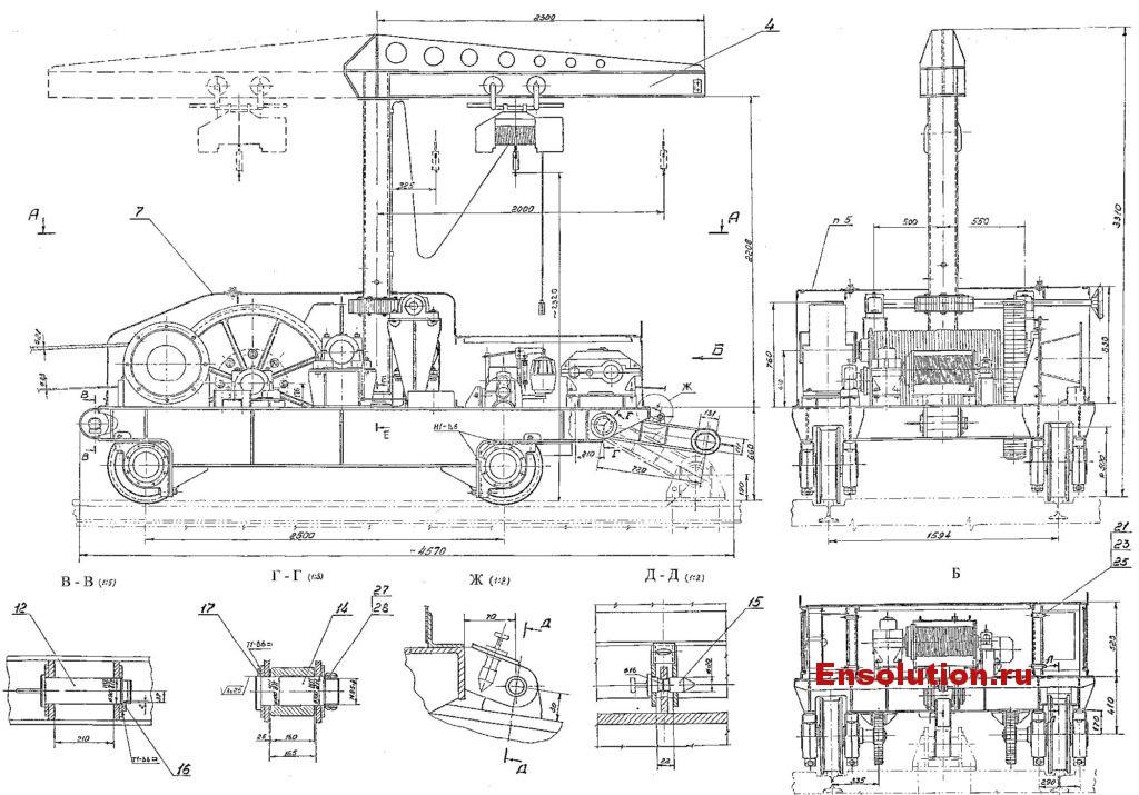 Самоходное устройство т.у. 8 т для перекатки трансформаторов Сангтудинской ГЭС-1 - 1