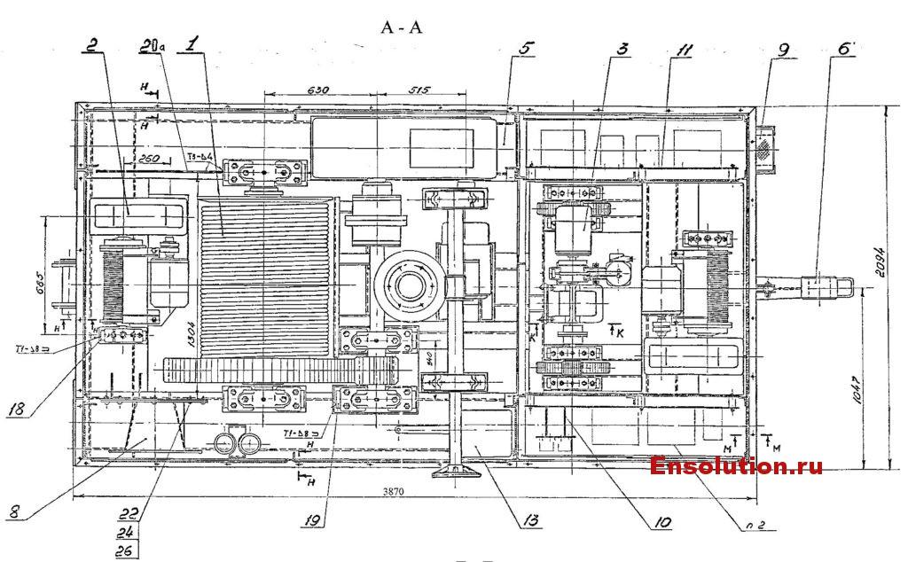 Самоходное устройство т.у. 8 т для перекатки трансформаторов Сангтудинской ГЭС-1 - 2