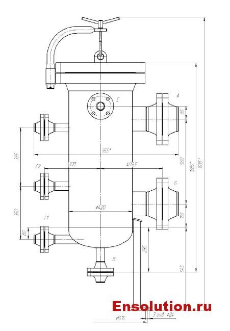 Фильтр топливного газа ФСГ-1000-6,3-300 для газоподготовки 28000 Centrax