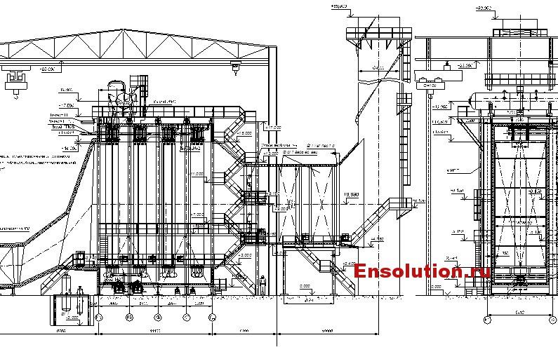 Котел-утилизатор для турбины ПТ-25/30-8,8/1,0-1