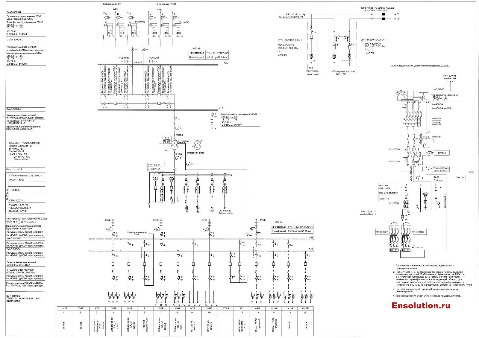 Главная электрическая схема ПС 500 кВ Хехцир rev.1
